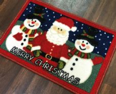 NON SLIP CHRISTMAS DOORMAT 40CMX60CM TOP QUALITY  WASHABLE MATS SANTA-SNOWMAN
